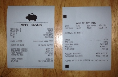 Print ATM Terminal Receipts with any Balance